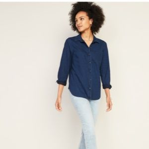 Old Navy Classic Chambray Shirt Size M NWT